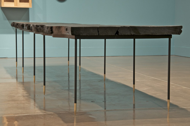 """""""[s]corched matchstick [s]ugar pine"""" table * by td[s].  Wignall Museum 11"""