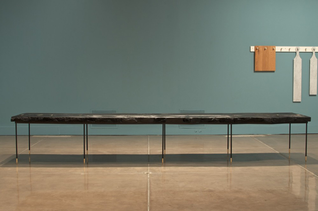 """""""[s]corched matchstick [s]ugar pine"""" table * by td[s].  Wignall Museum 29"""
