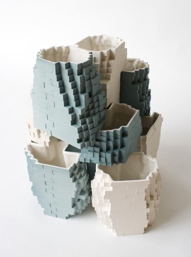 Industrial Design Pixel Vases * Julian F. Bond 940x1266xstacking vases 2