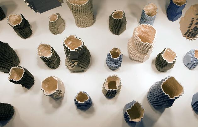 Industrial Design Pixel Vases * Julian F. Bond Pasquale Palmieri by Maria Passarivaki 2