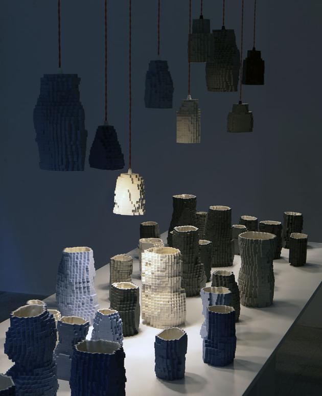 Industrial Design Pixel Vases * Julian F. Bond Pasquale Palmieri by Maria Passarivaki 3