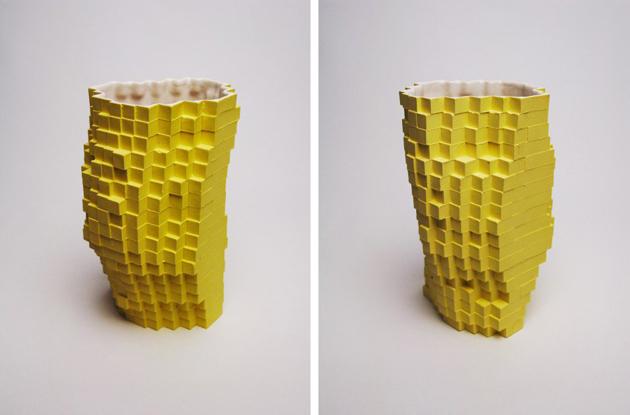 Industrial Design Pixel Vases * Julian F. Bond julian fbond pixel vases 2