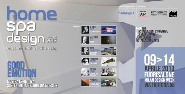 Home Spa Design * Milan'13 Img1 Home Spa Design Fuorisalone 2013 Milan
