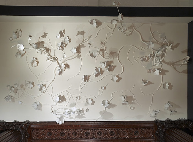 David Wiseman * R Gallery  3 Cherry Blossom Installation