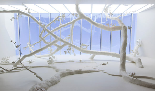 David Wiseman * R Gallery  4 Installation cherry blossoms canopy