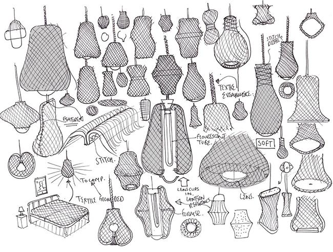 2. loom skecht Benjamin Hubert * Loom Organic Textile Lamp