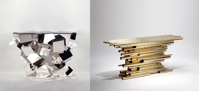 Hervé Van der Straeten *  Hand-craft Exclusive Design Herve   Van der Straeten 387 consolecristalloide CONSOLE PIPE SHOW