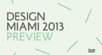Design Miami/ Event Preview * Contemporary Designers