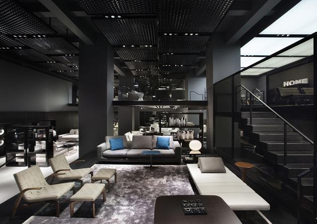 Minotti Celebrates Italian Design * Architect Digest interior design news minotti new york store delightfull unique lamps 02