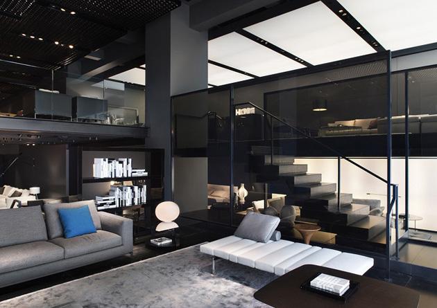 Minotti Celebrates Italian Design * Architect Digest interior design news minotti new york store delightfull unique lamps 03