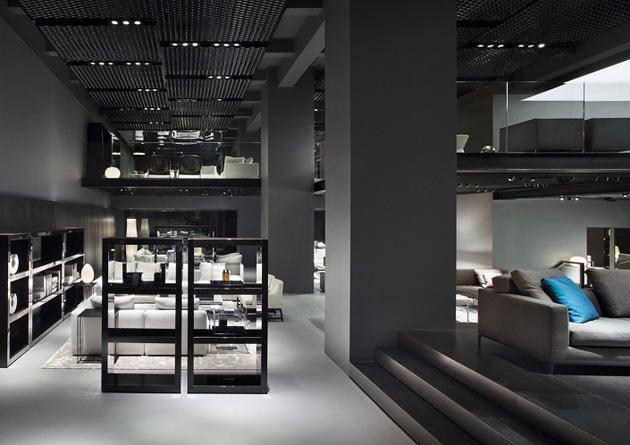 Minotti Celebrates Italian Design * Architect Digest interior design news minotti new york store delightfull unique lamps 07
