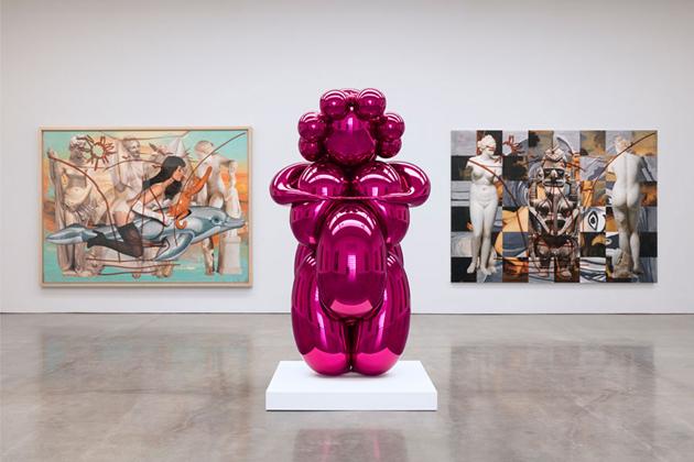 Jeff Koons * Contemporary Balloon Dog Jeff Koons Contemporary balloon dog pink sculpture