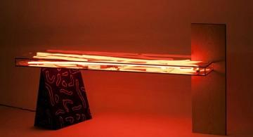 Misha Kahn*Bizarre design trend Misha Kahn Bizarre design trend neon table red light 360x195