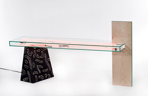 Misha Kahn-Bizarre design trend Misha Kahn Bizarre design trend neon table