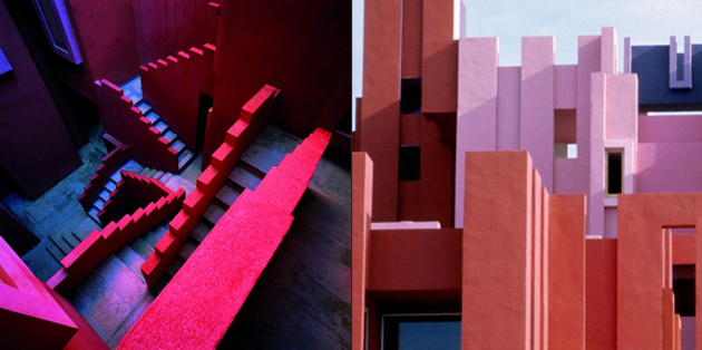 the red wall architecture ricardo bofill design gallerist rare unique products. Black Bedroom Furniture Sets. Home Design Ideas