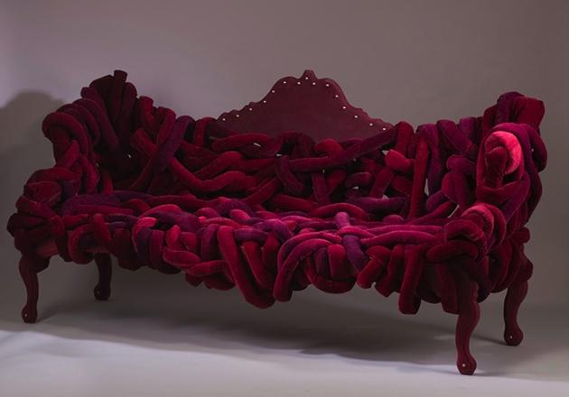Misha Kahn-Bizarre design trend velvet sofa Misha Kahn Bizarre design trend