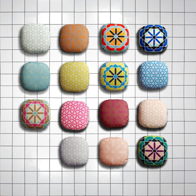 Sancal's*Geometric Float sofa Sancal Geometric Float sofa pillows