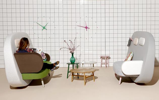 Sancal's*Geometric Float sofa Sancal multifunction Float sofa
