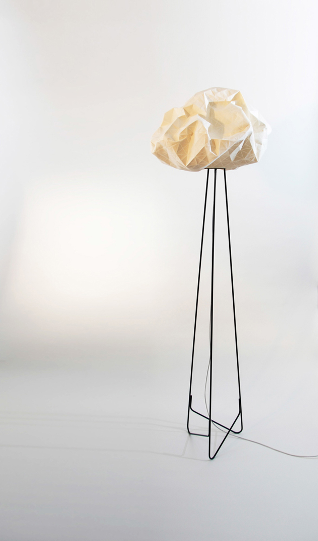 Special Lamps Origami-Inspired Fabric * Mika Barr Ori Lamps By Producks and Mika Barr 4