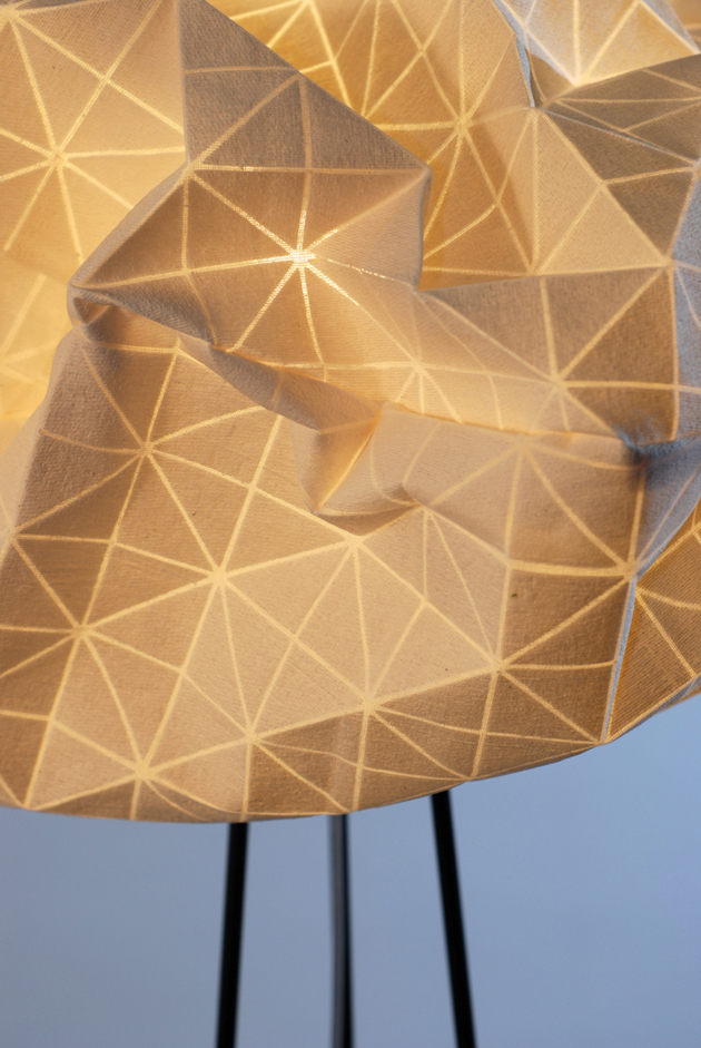 Special Lamps Origami-Inspired Fabric * Mika Barr Ori Lamps By Producks and Mika Barr 5