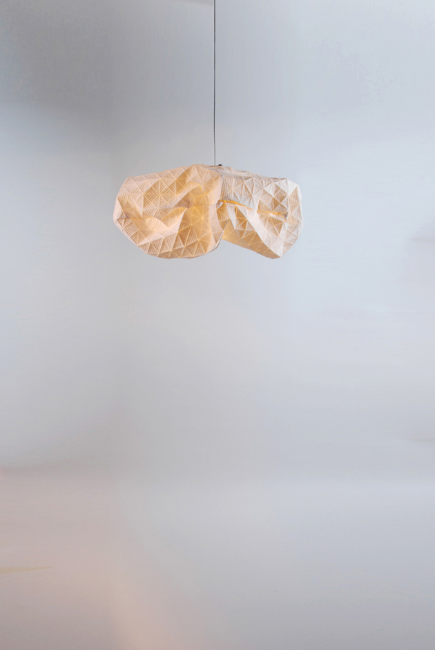 Special Lamps Origami-Inspired Fabric * Mika Barr Ori Lamps By Producks and Mika Barr 6
