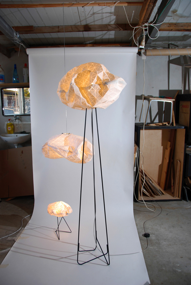 Special Lamps Origami-Inspired Fabric * Mika Barr Ori Lamps By Producks and Mika Barr 7