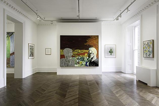 Best 5 Galleries * Uptown New York Michael Werner Gallery Mayfair Peter Doig Early works 1