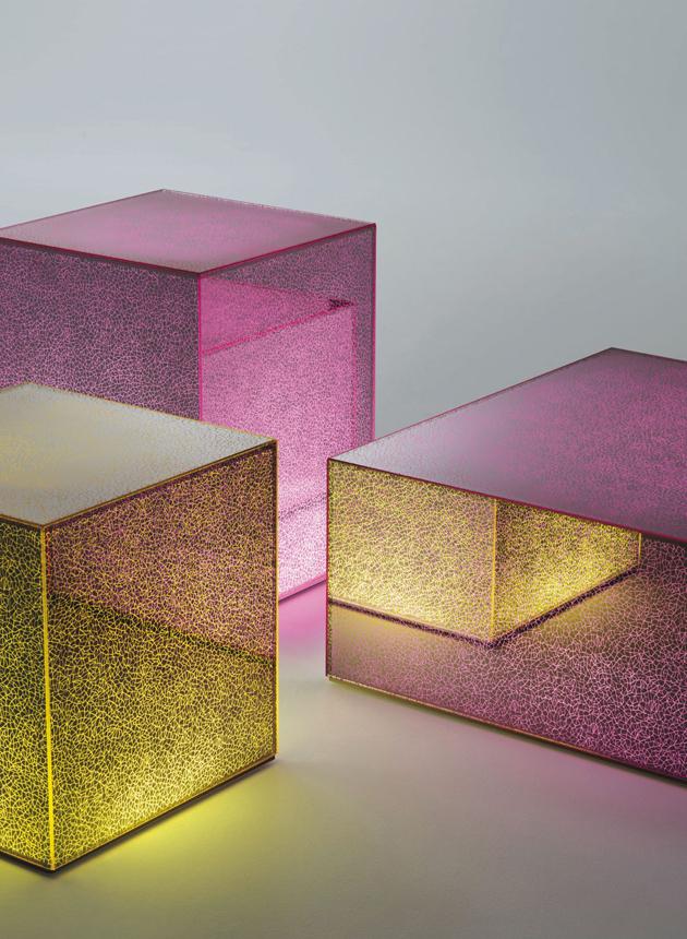 Glas Italia new collection 2014  New collection glass furniture * Glas Italia GlasItalia 2014 CRACK 02