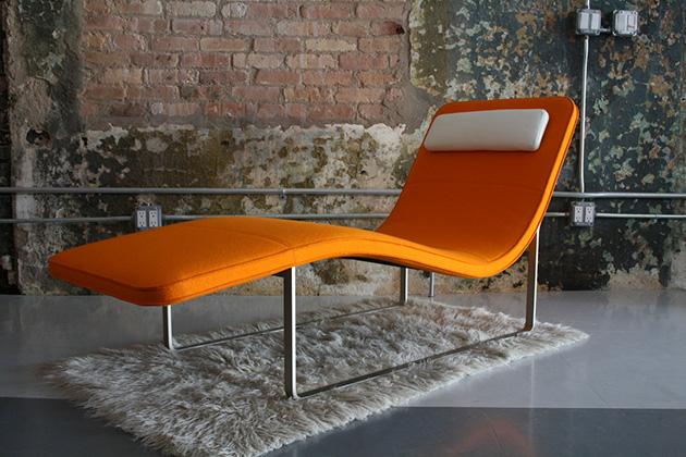 'Landscape' chaise mid century * Jeffrey Bernett chaise mid century Jeffrey Bernett