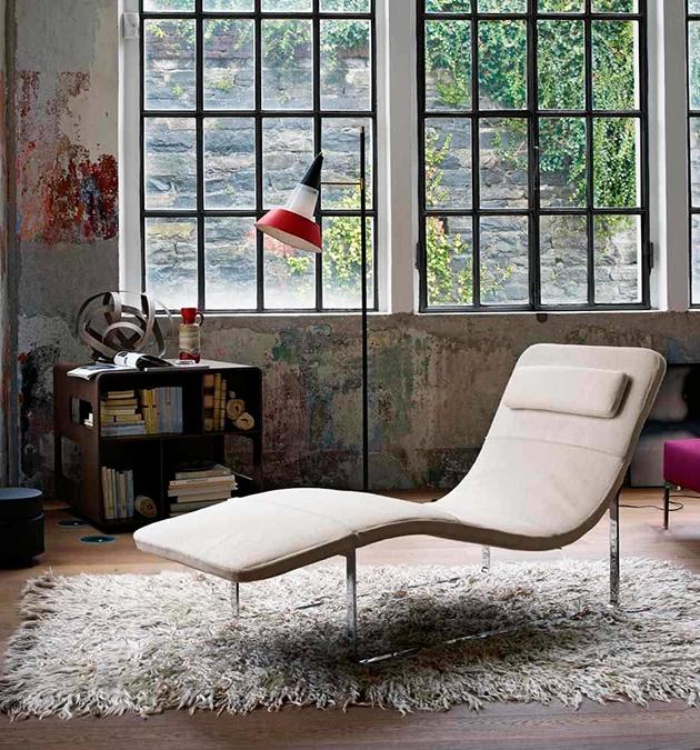 'Landscape' chaise mid century * Jeffrey Bernett chaise mid century lounge