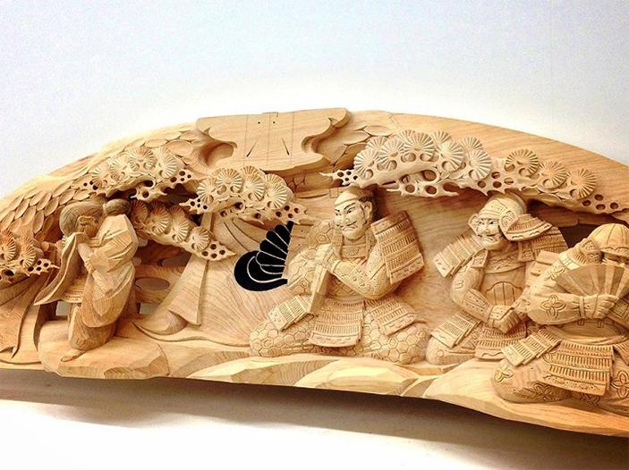 Sculptural Wooden Japanese Heroes * Yusuke Yamamoto Yusuke Yamamoto Sculptural Wooden Japanese Heroes * Yusuke Yamamoto sculptural woodenjapanese heroes 1
