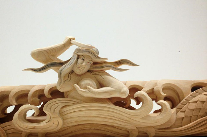 sculptural wooden japanese heroes Yusuke Yamamoto Sculptural Wooden Japanese Heroes * Yusuke Yamamoto sculptural woodenjapanese heroes 5