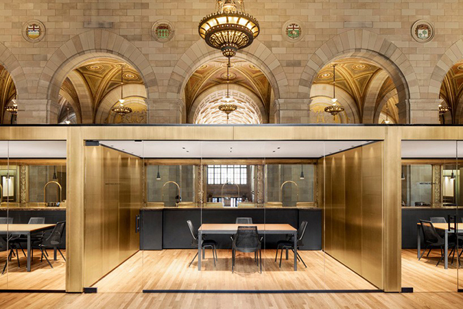 Tech Startup Offices at Historic Bank in Montreal * Henri Cleinge Henri Cleinge Tech Startup Offices at Historic Bank in Montreal * Henri Cleinge henri cleinge crew offices and cafe montreal designboom 01 818x546