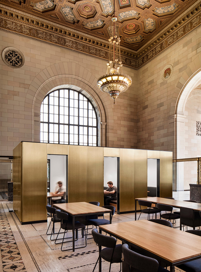 Tech Startup Offices at Historic Bank in Montreal * Henri Cleinge Henri Cleinge Tech Startup Offices at Historic Bank in Montreal * Henri Cleinge henri cleinge crew offices and cafe montreal designboom 04