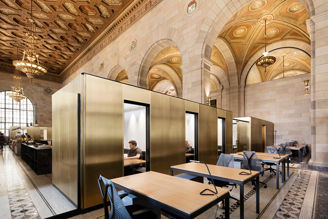 Tech Startup Offices at Historic Bank in Montreal * Henri Cleinge Henri Cleinge Tech Startup Offices at Historic Bank in Montreal * Henri Cleinge henri cleinge crew offices and cafe montreal designboom 08