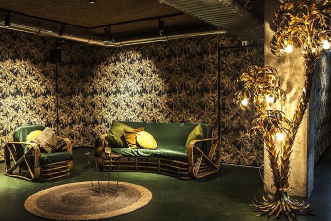 mid century hotel in amsterdam Mid Century Hotel in Amsterdam hotel v fizeaustraat palm room 2 600x401