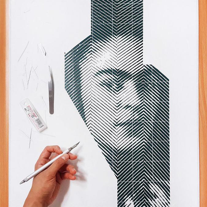 Yoo Hyun yoo hyun Photorealistic Portraits in Cut-Paper * Yoo Hyun yoo hyun hand cut paper designboom 07