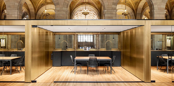 Tech Startup fices at Historic Bank in Montreal Henri