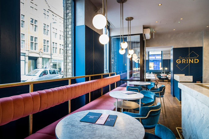 mid century modern clerkenwell grind restaurant in london - Midcentury Restaurant Interior