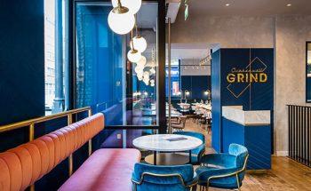 Mid Century Modern Clerkenwell Grind Restaurant in London