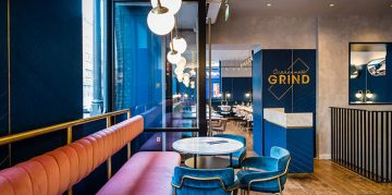 Mid Century Modern Clerkenwell Grind Restaurant in London
