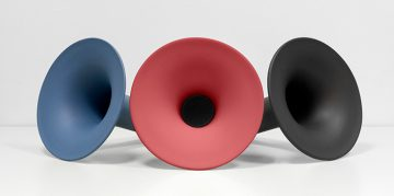 New Ceramic Bluetooth Speaker by Paolo Capello - Design Gallerist - Discover the season's rare and unique design ideas. Visit us at www.designgallerist.com/blog/ #DesignGallerist #uniquedesignideas #contemporarydesign @designgallerist