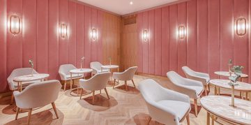 Rose Quartz and Mid Century Style at Nanan Patisserie