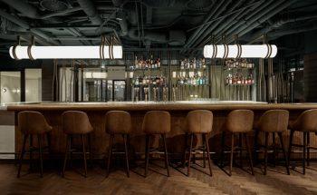 Mid century modern Restaurant Wyers & Miss Louisa Café in Amsterdam