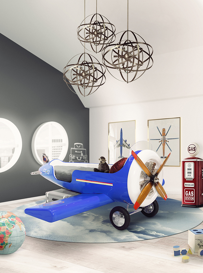 An Airplane Collection for Kids Bedroom Ideas Design Gallerist - Discover the season's rare and unique design ideas. Visit us at www.designgallerist.com/blog/ #DesignGallerist #uniquedesignideas #contemporarydesign @designgallerist kids bedroom ideas An Airplane Collection for Kids Bedroom Ideas sky one plane bed ambiance circu magical furniture 01