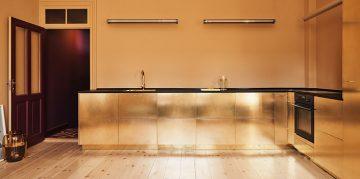 The Golden Kitchen of Stine Goya by Reform