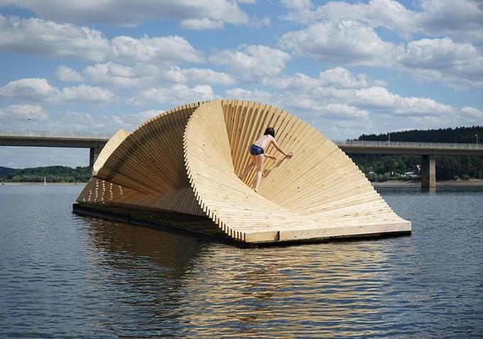 London Based Studio Daewha Kang Created a Floating Pavillion Studio Daewha Kang London Based Studio Daewha Kang Created a Floating Pavillion London Based Studio Daewha Kang Created a Floating Pavillion 3