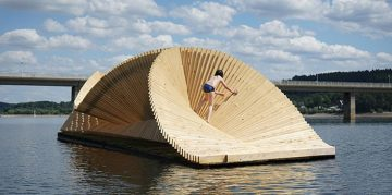 London Based Studio Daewha Kang Created a Floating Pavillion