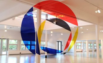 Felice Varini Paints Colorful Optical // Illusions In Urban Landscapes