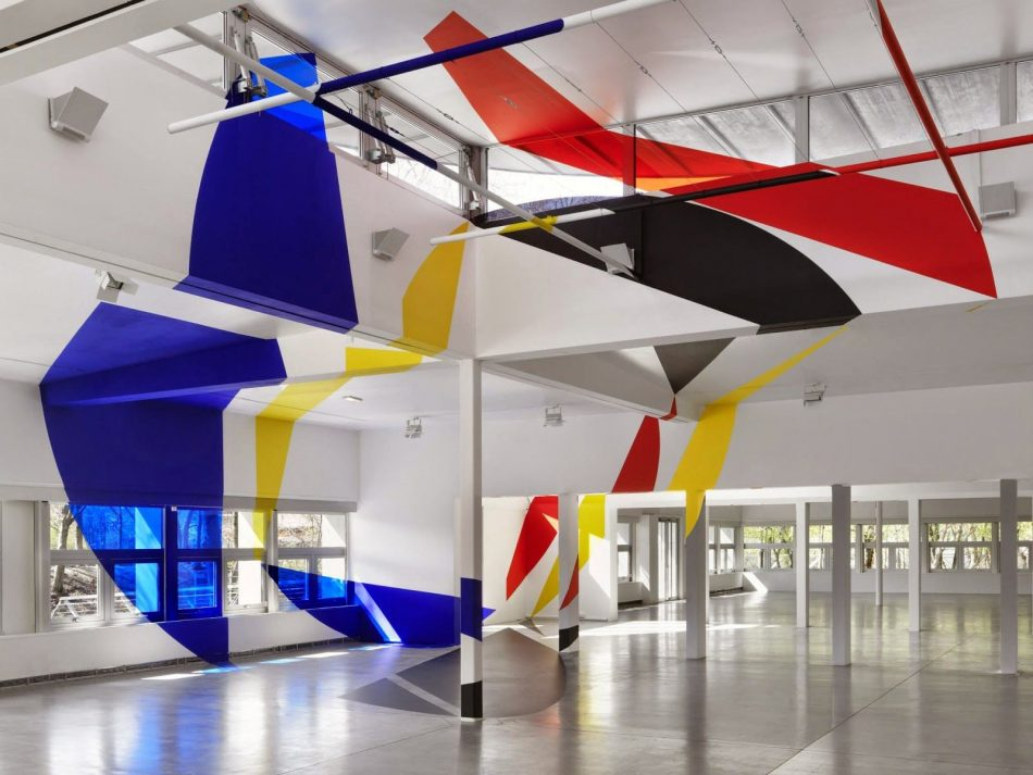 colorful optical Felice Varini Paints Colorful Optical // Illusions In Urban Landscapes Colorful Optical 8